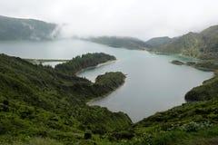 Lagoa das Sete Cidades, sao Miguel, Portogallo Immagini Stock