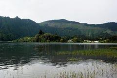 Lagoa das Sete Cidades, Sao Miguel, Portugal Arkivbilder