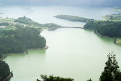 Lagoa das Sete Cidades, Sao Miguel, Portugal Royalty-vrije Stock Foto