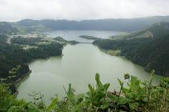 Lagoa DAS Sete Cidades, sao Miguel, Portugal Photo libre de droits