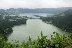 Lagoa DAS Sete Cidades, Sao Miguel, Portugal Foto de Stock Royalty Free