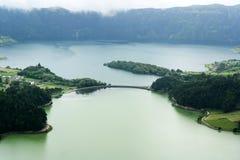 Lagoa das Sete Cidades, Sao Miguel, Portugal Stock Afbeeldingen