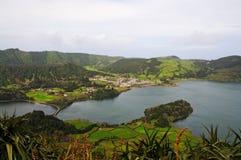 Lagoa das Sete Cidades. (Seven Cities Lagoon), in Azores, Sao Miguel Islands, Portugal royalty free stock photo