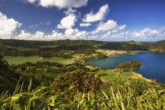 Lagoa das Sete Cidades, Seven Cities Lagoon, in Azores, Sao Miguel Islands