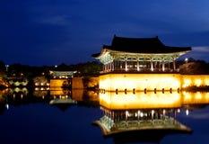 Lagoa de Anapji na noite Imagens de Stock Royalty Free