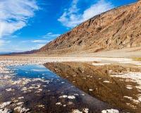 Lagoa de Badwater Foto de Stock Royalty Free
