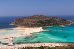 Lagoa de Balos na Creta Foto de Stock