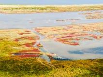 """Lagoa de Budaki, Shabolat assim chamado """"ucraniano Mesopotamia"""" Imagens de Stock"""