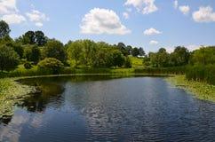 Lagoa de Cornell University Botanical Garden imagem de stock