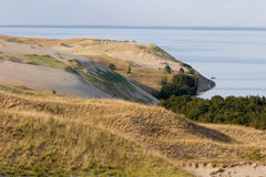 Lagoa de Curonian imagem de stock
