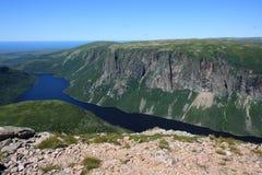 Lagoa de dez milhas em Gros Morne Foto de Stock