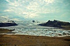 Lagoa de Islândia Glaciar Imagem de Stock