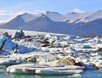 Lagoa de Jokulsarlon, Islândia Fotos de Stock