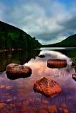 Lagoa de Jordão, parque nacional do Acadia fotografia de stock royalty free