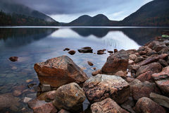 Lagoa de Jordão, parque nacional do Acadia, Maine Imagens de Stock