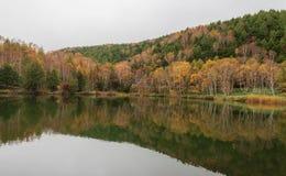 Lagoa de Kido-ike na esta??o do outono imagens de stock royalty free