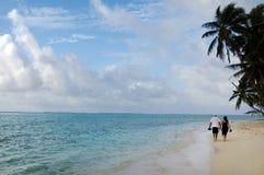 Lagoa de Muri no cozinheiro Islands de Rarotonga Imagens de Stock