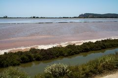 A lagoa de sal foto de stock