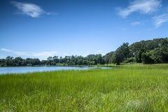 Lagoa de sal Fotografia de Stock