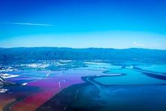 Lagoa de sal em Fremont foto de stock royalty free