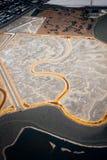 Lagoa de sal em Sunnyvale imagem de stock