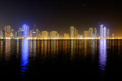 Lagoa de Sharjah Fotografia de Stock Royalty Free
