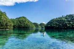 Lagoa de Sugba Imagem de Stock