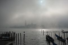 Lagoa de Veneza foto de stock royalty free