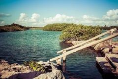 Lagoa de Yal-Ku Foto de Stock Royalty Free