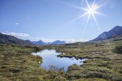 Lagoa de Yukon Fotos de Stock Royalty Free