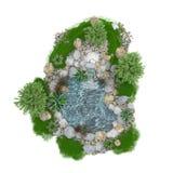 Lagoa decorativa em um fundo branco Imagem de Stock Royalty Free