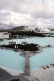 Lagoa do azul de Islândia Imagem de Stock