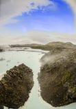 Lagoa do azul de Islândia Imagens de Stock