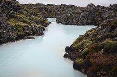 Lagoa do azul de Islândia Foto de Stock Royalty Free