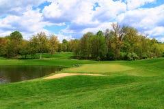 Lagoa do campo de golfe Fotos de Stock