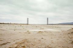 Lagoa do desperdício do produto químico da mina de cobre Disastre natural Fotografia de Stock