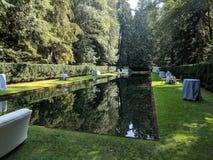 Lagoa do espelho na ilha de Bainbridge antes do evento fotografia de stock