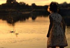 Lagoa do fim do verão Fotos de Stock Royalty Free
