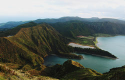 Lagoa do Fogo. Azores islands. Portugal stock photography