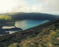 Lagoa do Fogo - Azores Royalty Free Stock Images