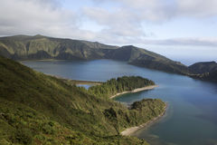 Lagoa do fogo lake Stock Photos