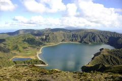 Lagoa do Fogo, San Miguel, Azores Royalty Free Stock Photography