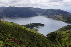 Lagoa do Fogo. Sao Miguel. Azores Royalty Free Stock Image