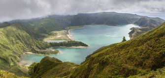 Lagoa do Fogo in Sao Miguel, Azores Islands Stock Images