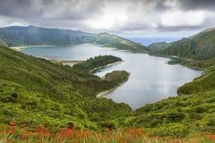 Lagoa do Fogo in Sao Miguel, Azores Islands. Lagoa do Fogo, a volcanic lake in Sao Miguel, Azores Islands stock photos