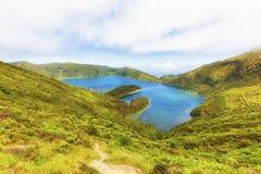 Lagoa do Fogo, volcanic crater lake Royalty Free Stock Image