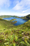 Lagoa do Fogo, volcanic crater lake at Sao Miguel, Azores Stock Photo