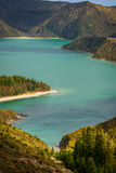 Lagoa do Fogo, a volcanic lake in Sao Miguel, Azores Stock Photography