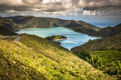 Lagoa do Fogo, a volcanic lake in Sao Miguel, Azores Royalty Free Stock Photography