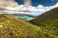 Lagoa do Fogo, a volcanic lake in Sao Miguel, Azores Royalty Free Stock Photo